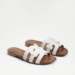 Sam Edelman Bay Slide Sandal Bright White Leather | Sam Edelman