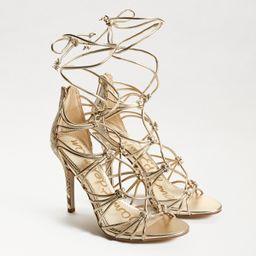 Sam Edelman Adella Strappy Heel Sandal Molten Gold | Sam Edelman