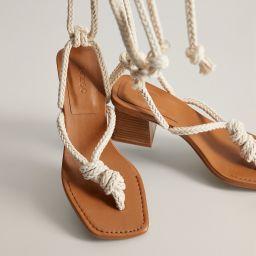 Interwoven cord sandals | MANGO (US)