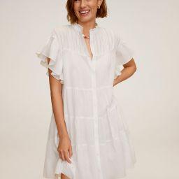 Ruffled sleeve dress | MANGO (US)