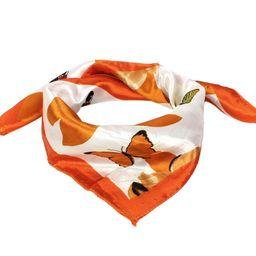 Flower Print Polyester Neck Scarves Neckerchief for Women Bandana | Walmart (US)