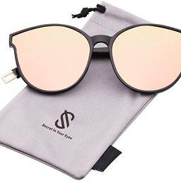 Fashion Round Oversized Sunglasses for Women Men Vintage Shades SJ2057 | Amazon (US)