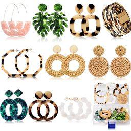 Acrylic Earrings for Women Mom Drop Dangle Leaf Earrings Resin Minimalist Bohemian Statement Jewe... | Amazon (US)