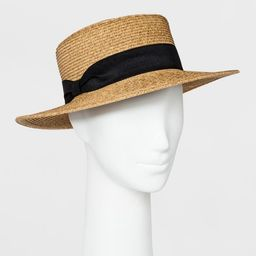Women's Packable Boater Hat - A New Day™ Beige   Target