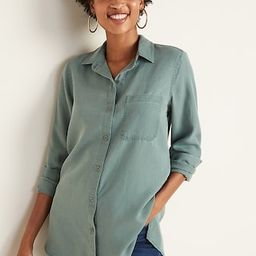 Relaxed Tencel® Shirt for Women | Old Navy (US)