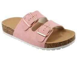 Kids Girl Open Toe Buckle 2 Strap Thong Slide Sandals (FREE SHIPPING) | Walmart (US)