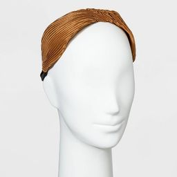 Satin Pleated with Twist Headband - A New Day™   Target