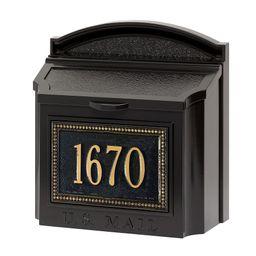 Beaded Wall Mailbox, Black/Gold | Pottery Barn (US)