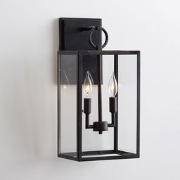 Manor Glass & Iron Outdoor Sconce | Pottery Barn (US)