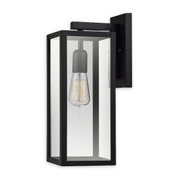 Globe Electric Hurley Wall-Mount Outdoor Light in Matte Black | Bed Bath & Beyond
