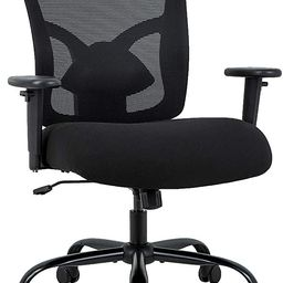 Big and Tall Office Chair 400lbs Desk Chair Mesh Computer Chair with Lumbar Support Wide Seat Adj... | Amazon (US)