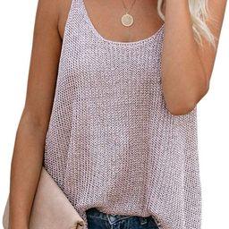 Women Oversize Scoop Neck Tank Tops Causal Sleeveless Knit Shirts Tunic Camis Loose Fashion Summe...   Amazon (US)
