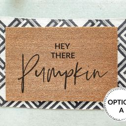 Hey There Pumpkin Fall Doormat Autumn Doormats Hi Pumpkin | Etsy | Etsy (US)
