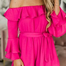 Always My Sweetest Love Magenta Romper   The Pink Lily Boutique