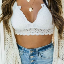 So This Is Love White Lace Bralette | The Pink Lily Boutique
