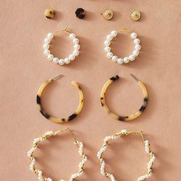6pairs Pearl Decor Tortoiseshell Earrings         SKU: swear18191231639                   66 Revi... | ROMWE