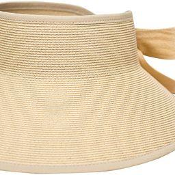 Pineapple&Star Vienna Visor Women's Summer Sun Straw Packable UPF 50+ Beach Hat | Amazon (US)