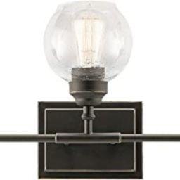 Kichler 45592OZ Niles Vanity, 3 Light Incandescent 300 Total Watts, Olde Bronze | Amazon (US)