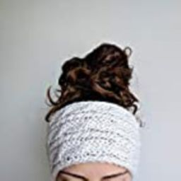 Chunky Cable Knit Ear Warmer, Thick and Cozy Headband, Off-White | Amazon (US)