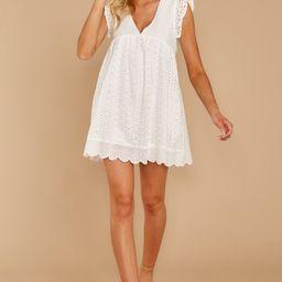 Keep A Secret White Romper Dress | Red Dress