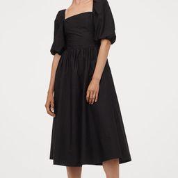 Puff-sleeved Cotton Dress | H&M (US)