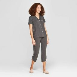 Women's Beautifully Soft Crop Notch Collar Pajama Set - Stars Above™ | Target