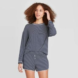 Women's Striped Beautifully Soft Long Sleeve and Short Pajama Set - Stars Above™ | Target