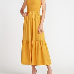 Smocked Bodice Flounce Maxi Dress   Express
