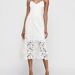 Floral Lace Midi Dress   Express