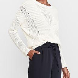 Mixed Stitch Tunic Sweater   Express