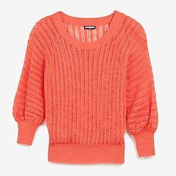 Open Stitch Balloon Sleeve Sweater | Express