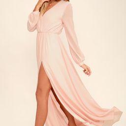 Wondrous Water Lilies Blush Pink Maxi Dress   Lulus (US)