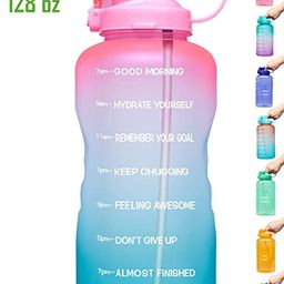 Venture Pal Large 1 Gallon/128 OZ (When Full) Motivational BPA Free Leakproof Water Bottle with S... | Amazon (US)