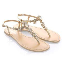 Crystal Jewel Gold Dress Boho Evening Sandals | Bella Belle Shoes