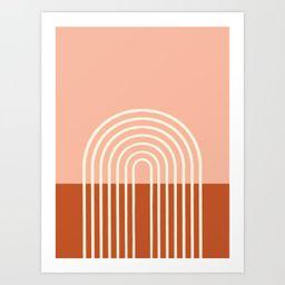 Terracota Pastel Art Print by hellograce | Society6