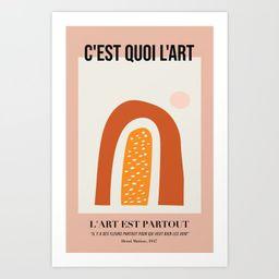 What Is Art - Version 01 Art Print by christinecalvert | Society6
