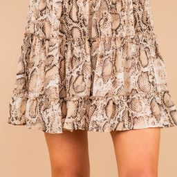 Wild Days Ahead Brown Snake Print Skirt | The Mint Julep Boutique