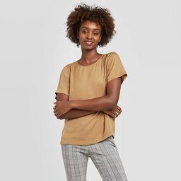 Women's Short Sleeve Round Neck Satin T-Shirt - A New Day™   Target