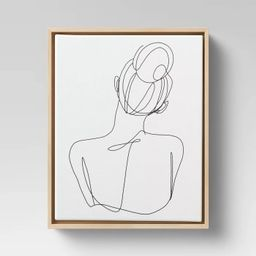 Woman Figural Wall Canvas White - Opalhouse™ | Target