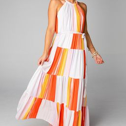 BuddyLove Blake Halter Maxi Dress - Sorbet | BuddyLove