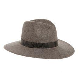 Snakeskin Print Trim Wide Brim Wool Panama Hat   Nordstrom