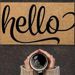 Hello Doormat hello mat home decor Hello Welcome Mat | Etsy | Etsy (US)