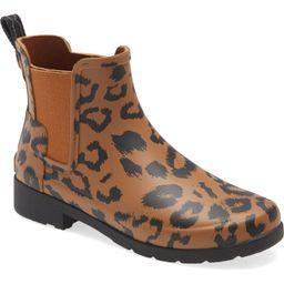Original Leopard Print Refined Chelsea Waterproof Rain Boot | Nordstrom