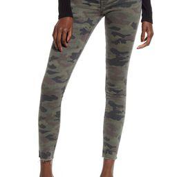Barbara High Waist Camo Raw Hem Ankle Skinny Jeans   Nordstrom