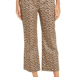 Leopard Print Chino Crop Flare Pants   Nordstrom