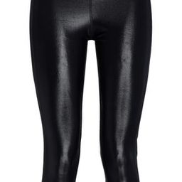 Koral Woman Dynamic Duo Cropped Coated Stretch Leggings Black Size XS | The Outnet US
