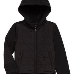 Zella Girl Mixed Media Hooded Jacket (Little Girl & Big Girl)   Nordstrom   Nordstrom