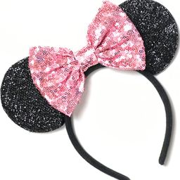 CLGIFT Pink Mickey Ears, Rainbow Minnie Mouse Ears, Sparkly Minnie Ears, Mouse Ears,Handmade, one...   Amazon (US)