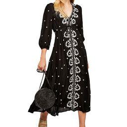 Embroidered V Maxi Dress | Macys (US)