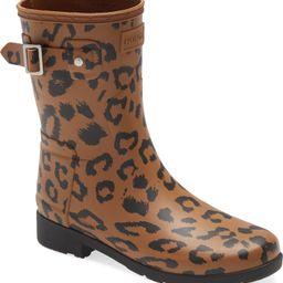 Original Leopard Print Refined Short Waterproof Rain Boot | Nordstrom